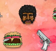 Pulp Fiction Big Kahuna Burger Pattern Sticker