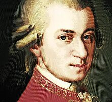 celebrities  wolfgang amadeus mozart by Adam Asar