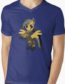 My Little Military Pony Mens V-Neck T-Shirt