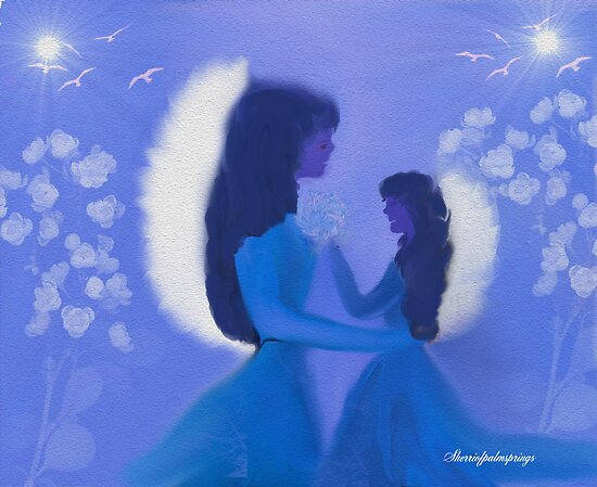 MOM AND DAUGHTER MIDNIGHT ANGELS by Sherri Palm Springs  Nicholas