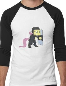 Riot shield Fluttershy - Military Pony Men's Baseball ¾ T-Shirt