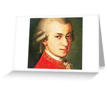 celebrities  wolfgang amadeus mozart 2 Greeting Card