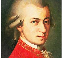celebrities  wolfgang amadeus mozart 2 Photographic Print