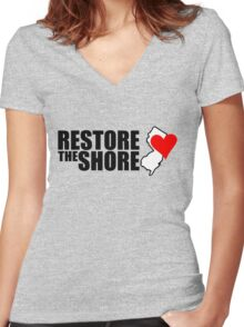 Restore the shore Women's Fitted V-Neck T-Shirt