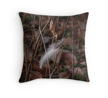 Lonely Feather Throw Pillow