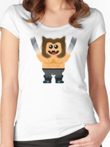 WOOFIE Women's Fitted Scoop T-Shirt