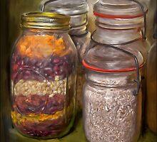 Mason jar  by Dave  Higgins