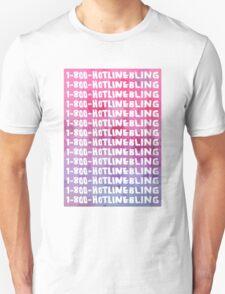 Hotline Bling Drake Watercolour Illustration T-Shirt
