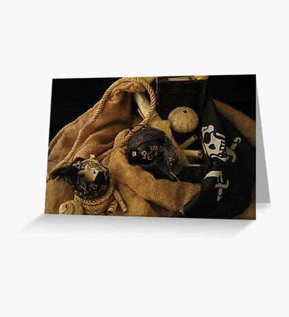 Pirate Black Christmas Balls Greeting Card