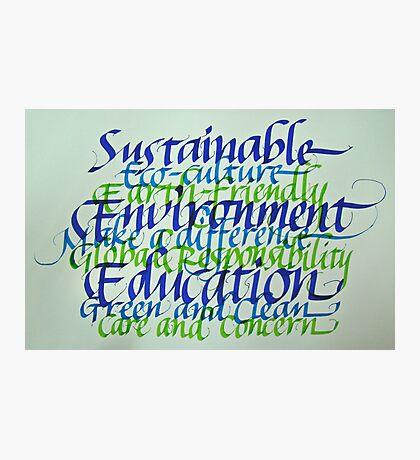 Eco-consciousness Photographic Print
