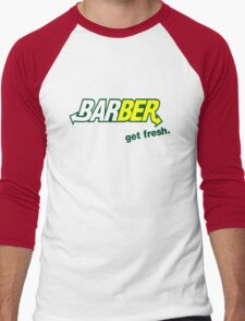 "Barber Get Fresh  ""Subway"" Men's Baseball ¾ T-Shirt"