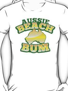 Aussie Beach Bum cute Australian design with map of Australia T-Shirt