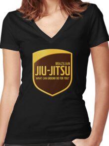 Jiu-Jitsu Women's Fitted V-Neck T-Shirt