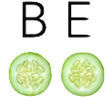 Be Cool As A Cucumber Print by emrapper