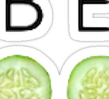 Be Cool As A Cucumber Print Sticker