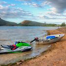 Boats on Lake Moogerah, QLD, Australia by Paul Welding