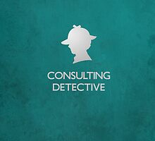 Sherlock Silhouette iPad/iPhone Case - Teal by jlechuga