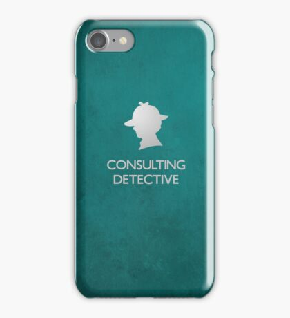 Sherlock Silhouette iPad/iPhone Case - Teal iPhone Case/Skin