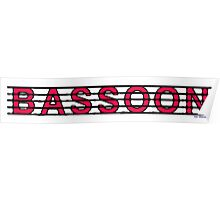Bassoon Red Poster