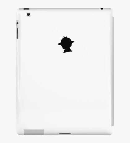 Sherlock Silhouette iPad/iPhone Case - White iPad Case/Skin