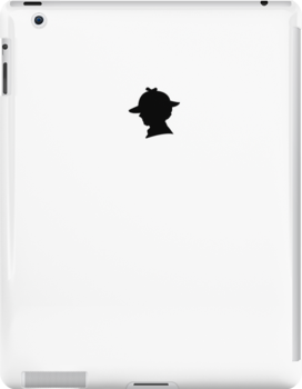 Sherlock Silhouette iPad/iPhone Case - White by jlechuga