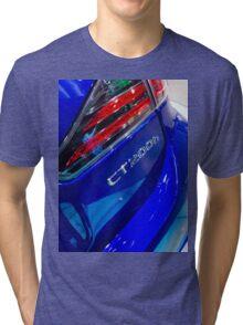 Lexus CT 200h Back Blue [ Print & iPad / iPod / iPhone Case ] Tri-blend T-Shirt