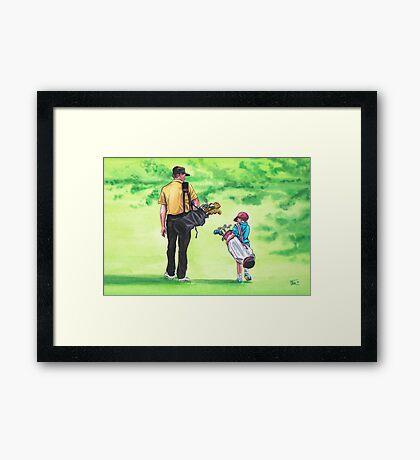Great Golf Day Framed Print