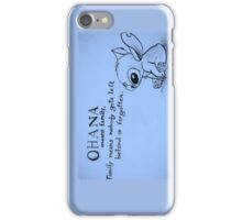 Ohana: means family iPhone Case/Skin