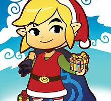 The Legend of Zelda: Wind Waker Link Seasonal Card by Asrielle