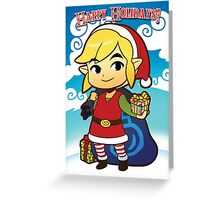 The Legend of Zelda: Wind Waker Link Seasonal Card Greeting Card