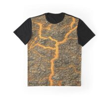 Lava and Rocks Graphic T-Shirt