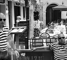 Men in stripes by Karen E Camilleri