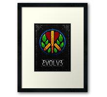 Evolve Peace Framed Print