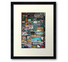 Colour Blocks Framed Print