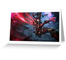 Blood Moon Kalista - League of Legends Greeting Card