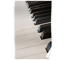 piano keyboard at angle Poster
