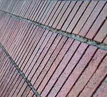 Angled brick wall perspective by bobkeenan