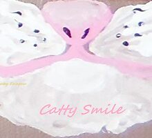 """""""Catty Smile"""" painting by Ruby's Daydreams"""