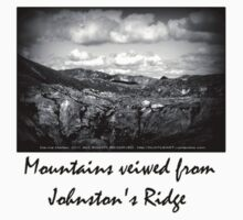 mountains seen from Johnston's Ridge Kids Clothes