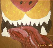 """""""Doggy Smile"""" painting by Ruby's Daydreams"""
