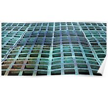 Green domed grating Poster