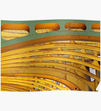Golden Arches and Beams Poster