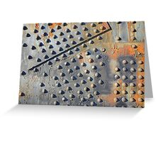 Old rusty rivets on Steel Bridge Greeting Card