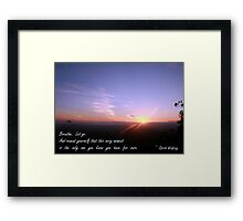 Breathe. Let go. Framed Print