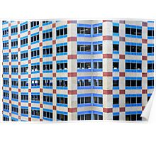 Angular Blue window building Poster