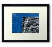 Distorted Building Reflections Framed Print
