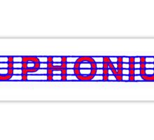 Euphonium Red White & Blue II Sticker