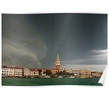 Huge Storm at The Grand Canal in Venice Poster