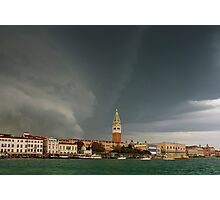 Huge Storm at The Grand Canal in Venice Photographic Print