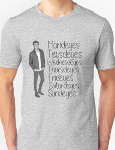 Youtuber Alfie Deyes days of the week  Unisex T-Shirt